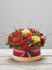 Burgundy Beauty Hatbox