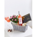 Luxury Rose Wine Gift Basket